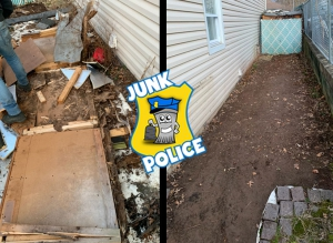 Junk Police before and after cleanout