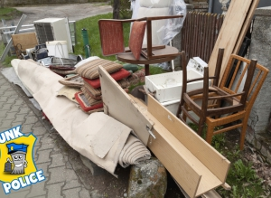 Junk items in yard for Junk Police to haul away